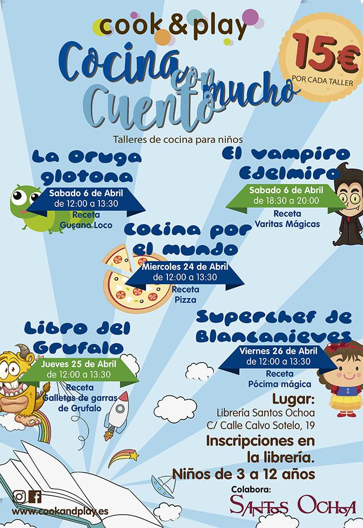 Recetas De Cocina Infantiles | Cocina Con Mucho Cuento Talleres Infantiles De Cook Play Santos