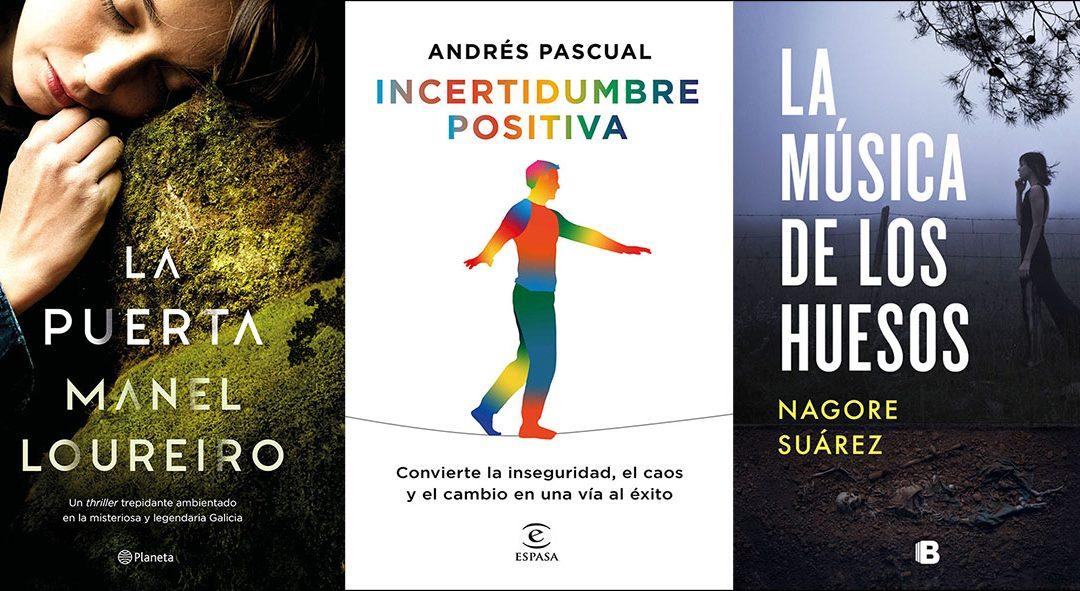 Manel Loureiro, Andrés Pascual y Nagore Suárez